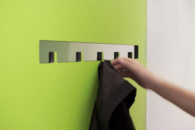 CnC gefräste Garderobe Detail