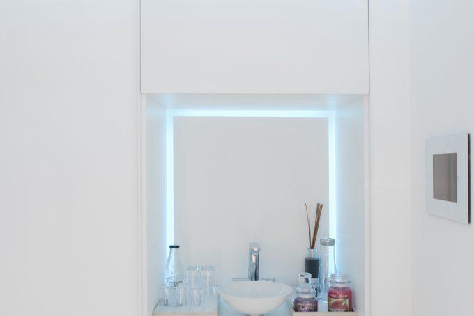 Waschtisch mit LED Beleuchtung