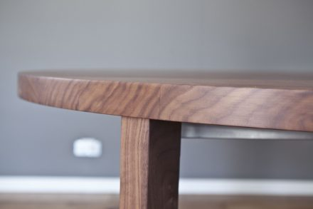 Tischfläche Nussbaum Massiv