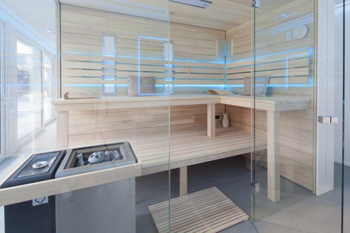Sauna aus Espen Holz